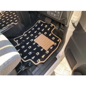 新型 旧型 タント フロアマット かわいい オリジナルデザイン ツリー柄 ひよこ柄 チェック柄 型式...