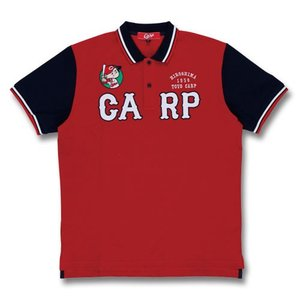 広島東洋カープ CARP 2018年 数量限定商品 アップリケポロシャツ(赤)Carp PR|red-monkey