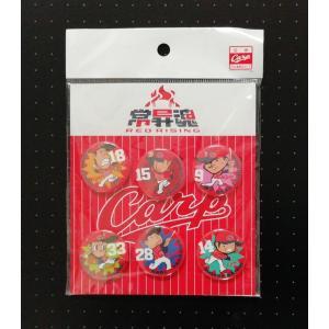 広島東洋カープ 常昇魂 REDRISING 缶バッジセット 2015 Carp バッジ  PR red-monkey