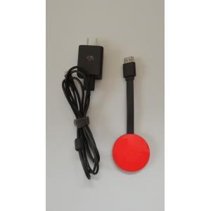 (USED品/中古品) 箱無し Google Chromecast コーラル グーグル クロームキャスト PR red-monkey