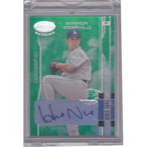 MLB 2003 Leaf Certified Materials Mirror Emerald Autographs #86 Hideo Nomo 01/05 First#