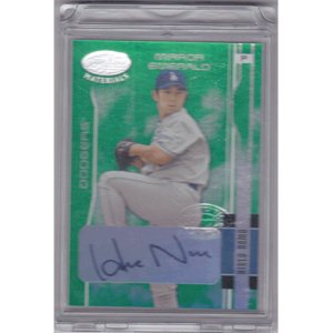 MLB 2003 Leaf Certified Materials Mirror Emerald Autographs #86 Hideo Nomo 02/05