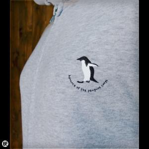 パーカー メンズ レディース フルジップPK 進撃のペンギン ミックスグレー|redbros