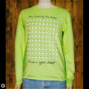ロンT/メンズ/レディース/長袖/Tシャツ : Sleep Sheep : ライムグリーン|redbros