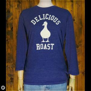 7分袖Tシャツ/メンズ/レディース/長袖/Tシャツ : アヒルロゴ(HN) : ヘザーディープネイビー|redbros