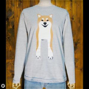 ロンT/メンズ/レディース/長袖/Tシャツ : Shiba Inu : ミックスグレー|redbros