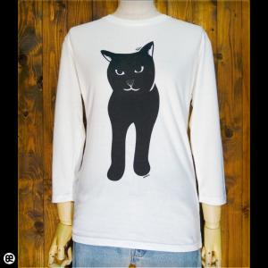 7分袖Tシャツ/メンズ/レディース/長袖/Tシャツ : Black Cat : オートミール|redbros