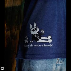 7分袖Tシャツ メンズ レディース 長袖 Tシャツ できる男 ヘザーディープネイビー|redbros