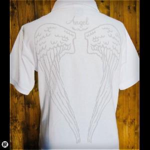 ポロシャツ/メンズ/レディース/5.3oz速乾ポロ : てんし : ホワイト|redbros