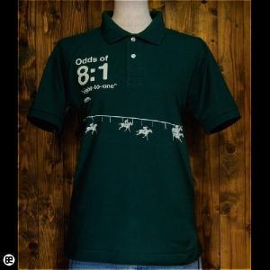 ポロシャツ メンズ レディース 5.3oz速乾ポロ ホースレース ブリティッシュグリーン|redbros