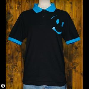ポロシャツ/メンズ/レディース/5.3oz速乾ポロ : smileくん : BK/TQ|redbros