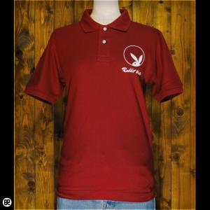 ポロシャツ メンズ レディース 5.3oz速乾ポロ Rabbit Hole バーガンディ|redbros