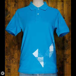 ポロシャツ/メンズ/レディース/5.3oz速乾ポロ : チェック de チェック(TB) : ターコイズ|redbros