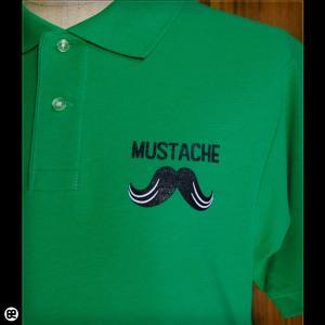 ポロシャツ/メンズ/レディース/5.3oz速乾ポロ : MUSTACHE : ブライトグリーン|redbros