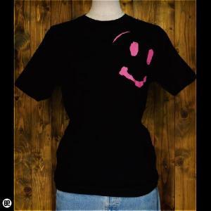 Tシャツ/メンズ/レディース/6.2oz半袖Tee : smileくん : ディープブラック|redbros
