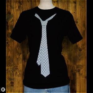 Tシャツ メンズ レディース 6.2oz半袖Tee ネクタイ ディープブラック|redbros