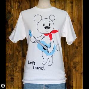 Tシャツ メンズ レディース 6.2oz半袖Tシャツ Left hand ホワイト|redbros