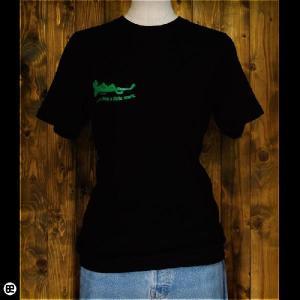 Tシャツ/メンズ/レディース/6.2oz半袖Tee : 眠れるカエル : ディープブラック|redbros