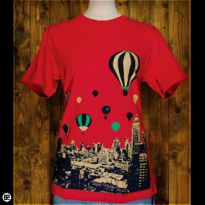 Tシャツ/メンズ/レディース/6.2oz半袖Tee : 空旅行 : クランベリー|redbros