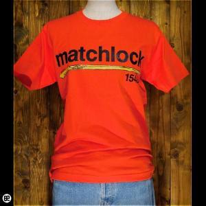 Tシャツ/メンズ/レディース/6.2oz半袖Tee : matchlock : オレンジ|redbros