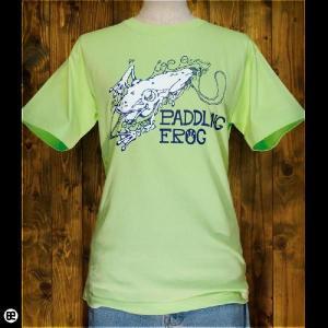 Tシャツ/メンズ/レディース/6.2oz半袖Tee : Paddling Frog : キーライム|redbros