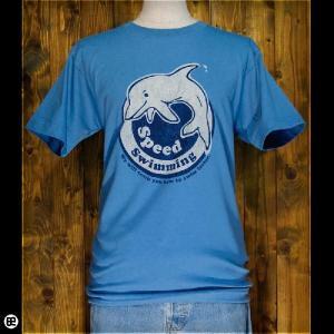 Tシャツ メンズ レディース 6.2oz半袖Tee イルカクラブ: スレート|redbros