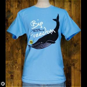 Tシャツ メンズ レディース 6.2oz半袖Tシャツ ビッグ・フリーダム エアーブルー|redbros
