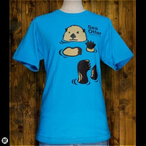 Tシャツ メンズ レディース 6.2oz半袖Tシャツ ラッコ カリビアンブルー|redbros