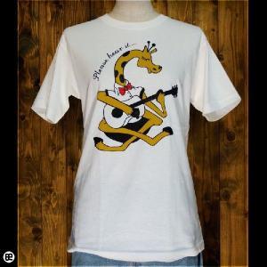 Tシャツ/メンズ/レディース/6.2oz半袖Tシャツ : ジラフギター : ナチュラル|redbros
