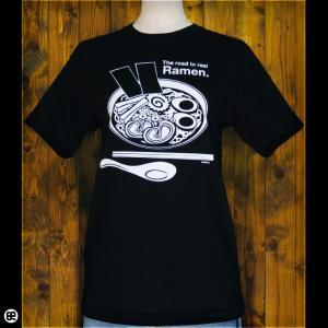 Tシャツ メンズ レディース 6.2oz半袖Tシャツ Ramen ディープブラック|redbros