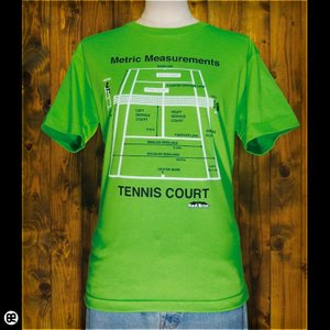 Tシャツ メンズ レディース 6.2oz半袖Tシャツ TENNIS COURT グリーン|redbros