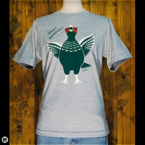 Tシャツ/メンズ/レディース/6.2oz半袖Tシャツ :  ケン四郎 : ヘザーグレー|redbros