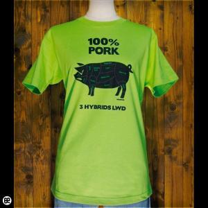 Tシャツ メンズ レディース 6.2oz半袖Tシャツ ポーク ライム|redbros
