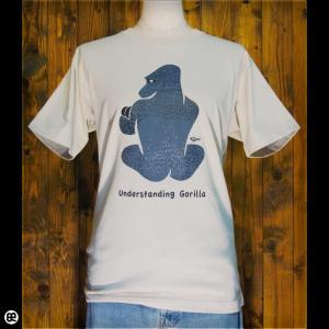 Tシャツ/メンズ/レディース/6.2oz半袖Tシャツ : かしこいゴリラ : ストーン|redbros