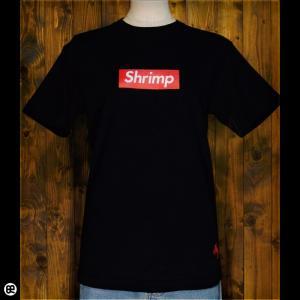 Tシャツ/メンズ/レディース/6.2oz半袖Tシャツ : Shrimp : ディープブラック|redbros