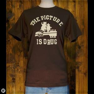 Tシャツ/メンズ/レディース/6.2oz半袖Tシャツ : ブタギター : ブラウン|redbros