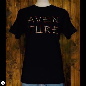 Tシャツ/メンズ/レディース/6.2oz半袖Tシャツ : Aventure : ディープブラック|redbros