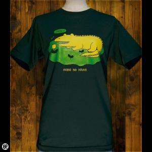 Tシャツ/メンズ/レディース/6.2oz半袖Tシャツ : ワニのにわ : フォレストグリーン|redbros