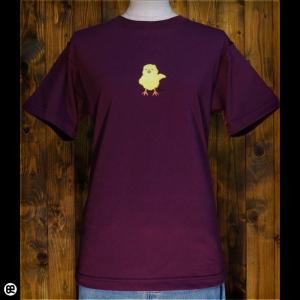 ひよこ:バーガンディ:Tシャツ|redbros