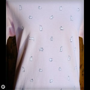 うさぎDots:フロストピンク:Tシャツ|redbros