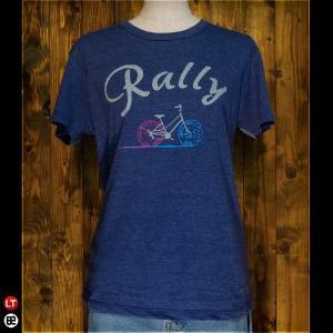 Tシャツ メンズ レディース 4.3oz半袖Tee Rally ヘザーディープネイビー|redbros
