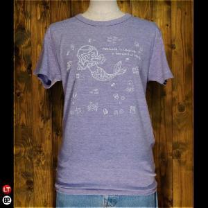 Tシャツ/メンズ/レディース/4.3oz半袖Tee : マーメイド : ヘザーパープル|redbros