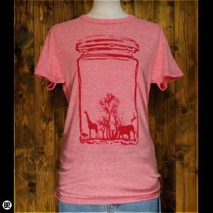 Tシャツ/メンズ/レディース/4.3oz半袖Tee : Animal : ヘザーピンク|redbros