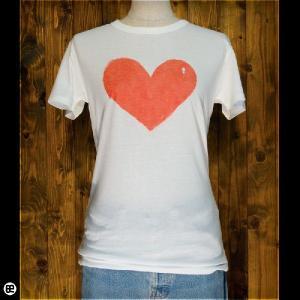 Tシャツ/メンズ/レディース/4.3oz半袖Tee : ハートに鍵穴 : オフホワイト|redbros