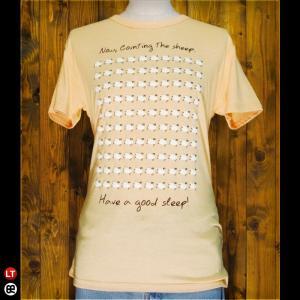 Tシャツ/メンズ/レディース/4.3oz半袖Tee : Sleep Sheep(YL) : ヘザーイエロー|redbros