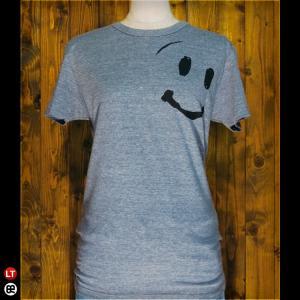 Tシャツ/メンズ/レディース/4.3oz半袖Tee : スマイルくん : ヘザーネイビー|redbros