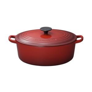 ルクルーゼ ココット オーバル ホーロー 鍋 IH 対応 27cm チェリーレッド 2502-27-06 redheart