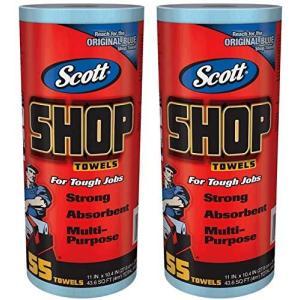 SCOTT Shop Towels ブルーロール 55枚2ロール組 redheart