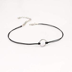 MAXTID ネックレス ネックバンド レディース シンプル 個性的スタイル 縞模様 布リボン 鎖骨チェーン|redheart
