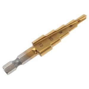 チタンコーンドリルビットホールカッター 4-12mm HSSパゴダステップドリル穴カッター|redheart